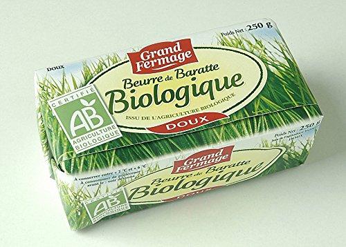 フランス産発酵バター(グラスフェッドバター) バイオバター無塩250g