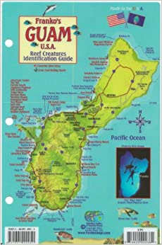 Guam Dive Map amp Reef Creatures Guide Franko Maps Laminated