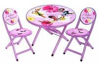 Amazon.com: Disney Fairies 3 PC Round Table And Chair Set ...
