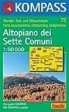 Altopiano dei Sette Comuni: Bassano e Monte Grappa. Carta escursioni, bike e sci alpinismo. Wander-, Rad- und Skitourenkarte. 1.50.000