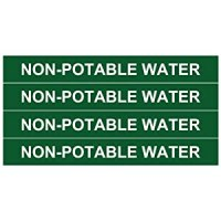 """NON-POTABLE WATER ____Pipe Tubing Labels__ 3/4"""" Height, 6 ..."""