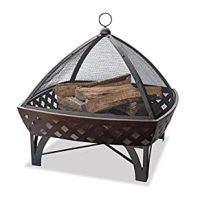 Amazon.com: Outdoor Wood Burning Fire Pit Table: Patio ...