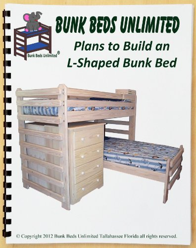 14 95 bunk bed woodworking plan l shaped twin over twin by bunk beds