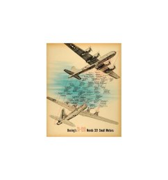 1945 print boeing b 29 aircraft plane motor oil diagram fuel propeller aviation original color print [ 960 x 960 Pixel ]