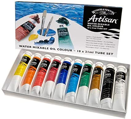 Winsor and Newton Artisan Water Mixable Painting Mediums - Set of 10 - 21ml Tubes - Assorted Colors