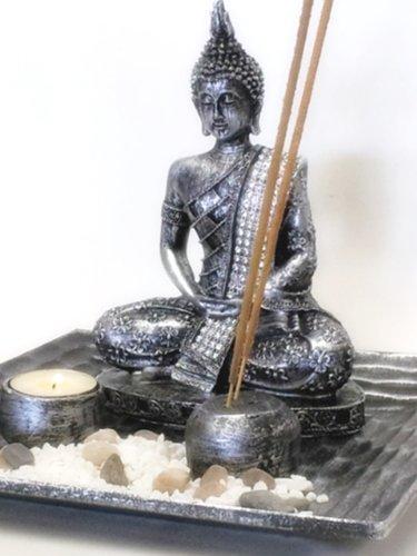 8 Thai Buddha Statue with Incense Burner Votive T light