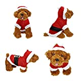 Smartbargain Pet Puppy Dog Christmas Clothes Santa Claus Costume Outwear Coat Apparel Hoodie (XS)