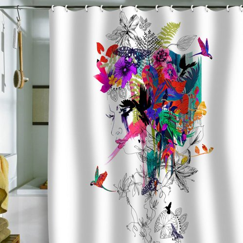 Tropical Shower Curtains Tropical Fabric Shower Curtain Shower