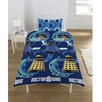 DR DOCTOR WHO STRATEGIST REVERSIBLE SINGLE BED DUVET QUILT