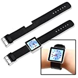 eForCity Leather Wrist Band Watch Strap for iPod nano 6G