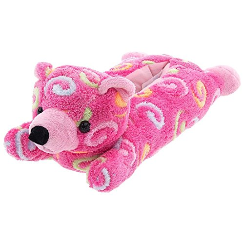 Pink Bear Animal Slippers for Women Medium