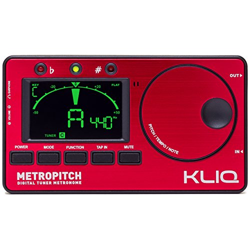 KLIQ-MetroPitch-Metronome-Tuner-with-Guitar-Bass-Violin-Ukulele-and-Chromatic-Modes-Tap-Tempo-Tone-Generator-Best-for-All-Acoustic-Electric-Instruments-Carrying-Pouch-Included