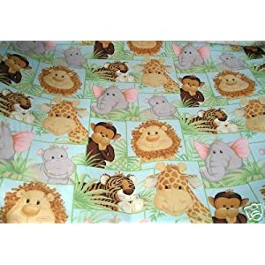 Patty Reed Jungle Babies Fabric Material 2 Yards