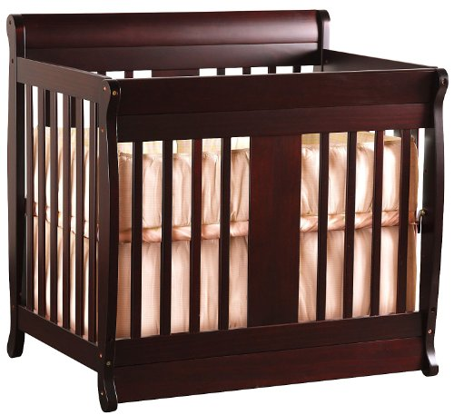 Nursery Smart Chelsea 2 In 1 Convertible Mini Crib Mocha Simmons