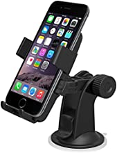 iOttie Easy One Touch Windshield Dashboard Car Mount Holder for iPhone 6s 5s 5c, Samsung Galaxy S6 Edge Plus S6 S5 S4, HTC One-Retail Packaging-Black