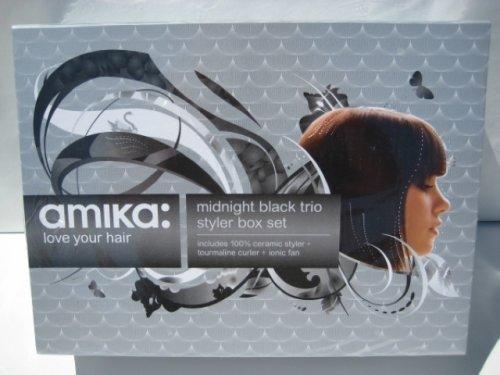 Hair Straightener Flat Iron Buy Amika Midnight Black Trio