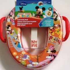 Mickey Mouse Clubhouse Chair Ll Bean Bag Disney Potty Seat With Hook Minnie Pluto Daisy Duck Goofy