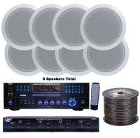 Pyle KTHSP85DV 4 Room Home In-Ceiling Speakers W/DVD/MP3 ...