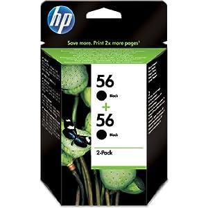 HP Patrone Nr.56 Doppelpack Tinte schwarz 2x450 Seiten DeskJet 5550 Photosmart 7000