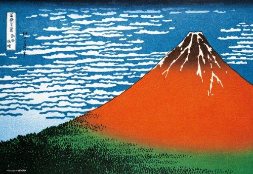 1000ピース ジグソーパズル 赤富士~富嶽三十六景 凱風快晴~ マイクロピース (26x38cm)