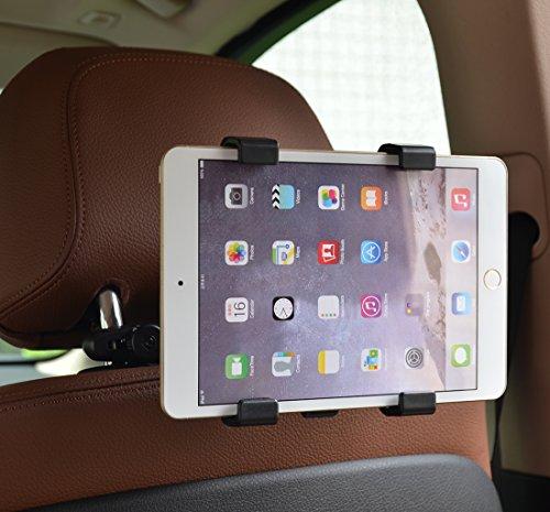 Racksoy ヘッドレスト取付型 車載タブレットホルダー 後部座席リアシート用 (7.9-10.5インチ用)