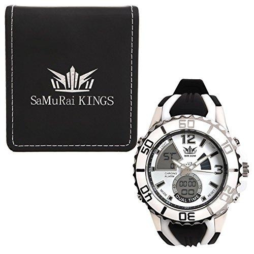 腕時計 メンズ ホワイト 人気 防水 カジュアル ギフト プレゼント GENJI (ホワイト) 51XMXcvFEtL