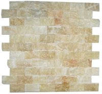 Honey Onyx Split Face 1x2 Mosaic Tile for Kitchen ...