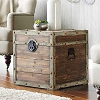 Sonoma Life And Style End Table Antique Steamer Storage ...