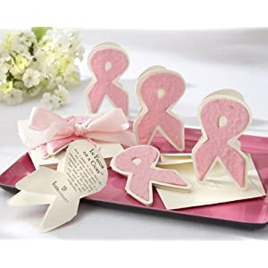 Plantable Wildflower In Favor of a Cure Pink Ribbon Favors (2 sets of 12 per order) Wedding Favors