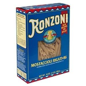 Amazoncom Ronzoni Mostaccioli Rigati Pasta 16 oz Pack