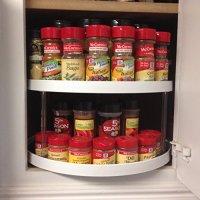 Lazy Susan Spice Rack Cabinet Storage Organizer 2 Tier ...