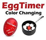 Red Apple Heat Sensitive Hard & Soft Boiled Egg Timer Color Changing Indicator Tells When Eggs Are Ready - Watch Color Change For SOFT MEDIUM Or HARD BOILED - Super-Reliable Kitchen Tool -Gift