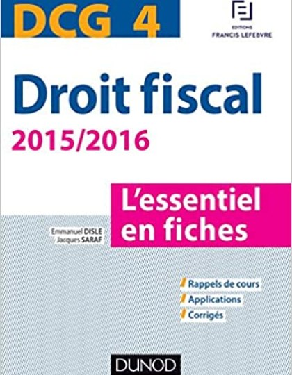 DCG 4 - Droit fiscal - Dunod - 2015/2016