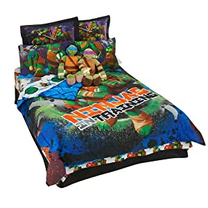 Amazoncom Teenage Mutant Ninja Turtles Boys Full Comforter and Sheet Set 8 Piece Bedding