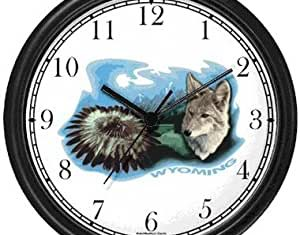 Amazon Wolf Wall Clocks Home Kitchen