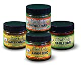 Ellbee's Garlic Seasoning and Rub Variety Pack All Natural Gluten Free No MSG - Sweet & Smokey, Chipotle Herb, Asian Zing, Chili Lime