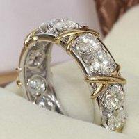 Lovely Ring - Eternity Diamonique CZ 10KT White&Yellow ...
