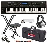 Kurzweil PC3K7 Keyboard ESSENTIALS BUNDLE w/ Padded Bag, Stand & Bench