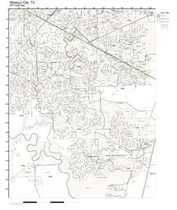 Amazon.com: ZIP Code Wall Map of Missouri City, TX ZIP