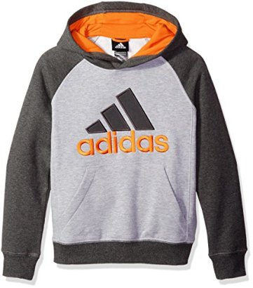 adidas-Boys-Big-Boys-Fleece-Blocked-Po-Medium-Heather-GreyDark-Heather-Grey-Large14-16