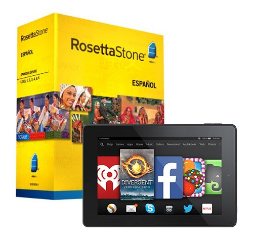 Rosetta Stone Spanish Spain Level 1-5 Set And Fire Hd 7 Bundle Cheap Software