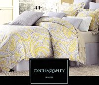 Amazon.com: Cynthia Rowley 3pc Duvet Cover Set Paisley ...