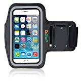 EnGive Anti-slip Sports Armband for iPhone 6 4.7 inch Size (Black)