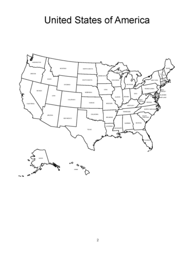 Amazon.com: USA Maps and the 50 USA States Coloring Book
