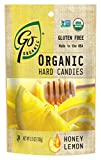 GoNaturally Organic Honey Lemon Gluten Free Hard Candies, 3.5-Ounce Bags (Pack of 6)