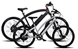 "2 Prodecotech Electric Bikes- ProdecoTech Phantom X R V5 36V600W 8 Speed Electric Bicycle 14Ah Samsung Li Ion, Matte Black Bicycle AND Genesis V5 36V600W 8 Speed Electric Bicycle, Brushed Aluminum, 18""/One Size"