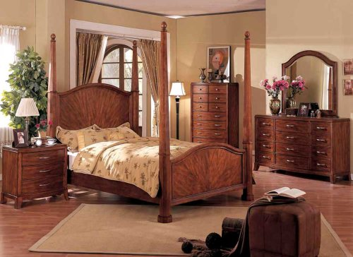 living room designs 5pcs Traditional All Wood Bedroom Set Item F9114 EASTERN KING