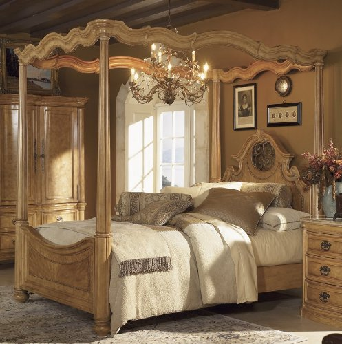 Low Priced Furniture Stores: Palencia King Size Canopy Bed