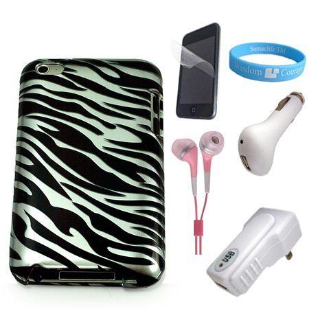 Review Apple iPod Touch 4G Protective Black-White Zebra Back Case + Clear