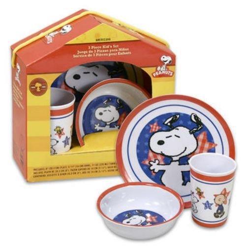 UPC 085081906168 Snoopy Dinnerware Set 3pc Americana